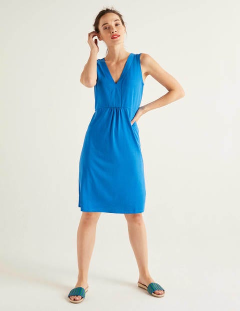 Eden Jerseykleid - Kräftiges Blau
