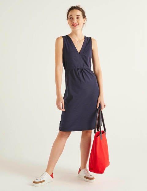 Eden Jersey Dress - Navy