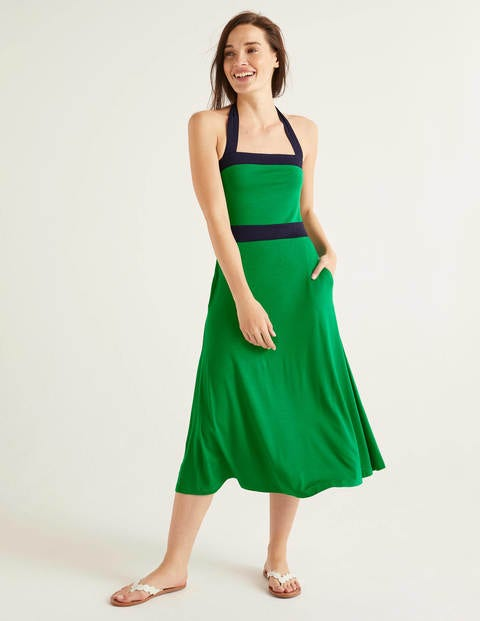 Santorini Jersey Dress - Rich Emerald