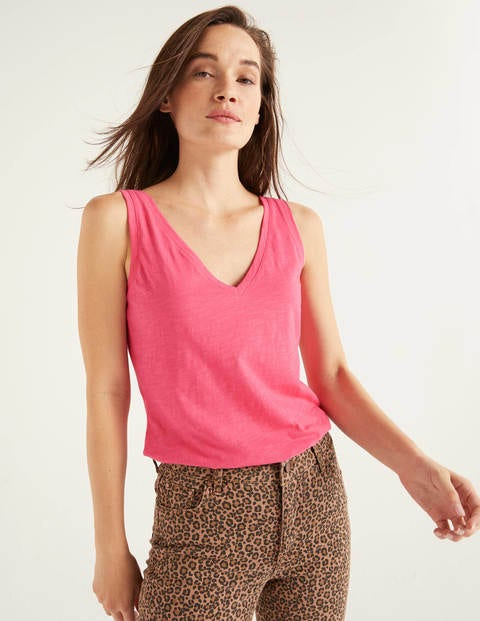 Das ärmellose Baumwolloberteil - Helles Pink