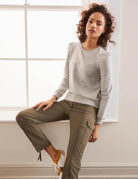 Puff Sleeve Sweatshirt - Grey Marl