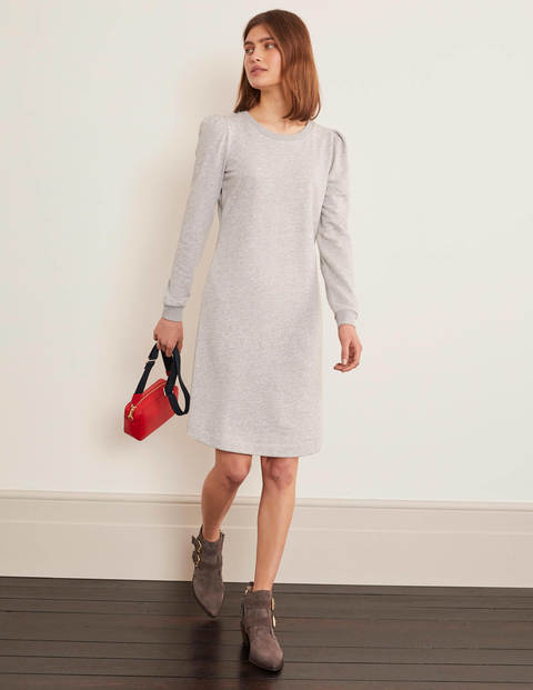 Sweatshirt Kleid mit Puffärmeln Grün | Boden DE