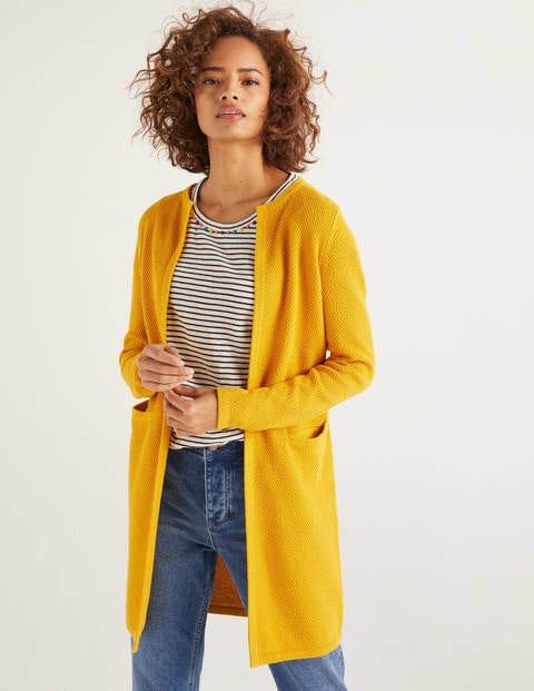 Long Textured Cotton Cardigan