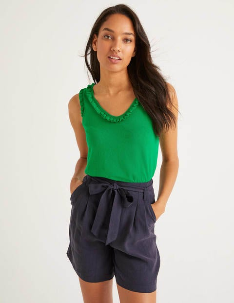 Chichester Frill Knitted Vest - Bright Green