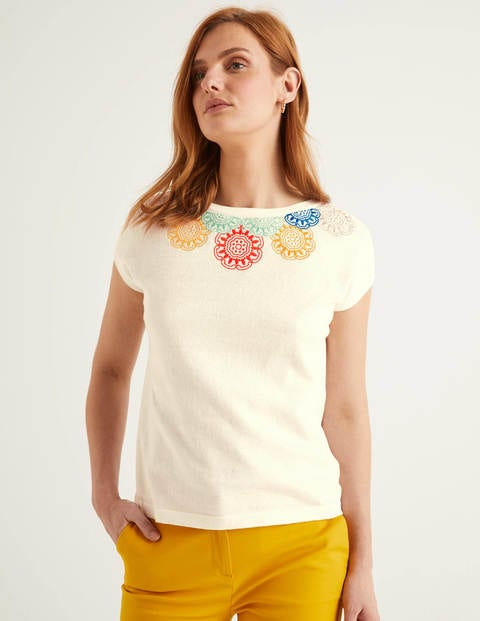 Elgin Embroidered Knitted Tee