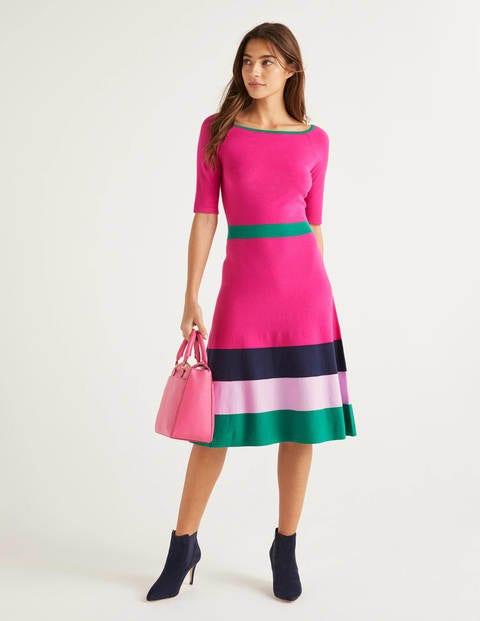 Jemima Stripe Knitted Dress - Pop Pansy