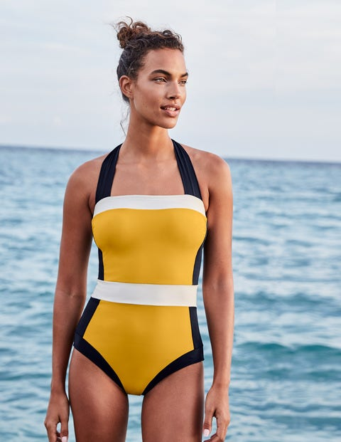 Santorini Swimsuit - Yellow Colourblock