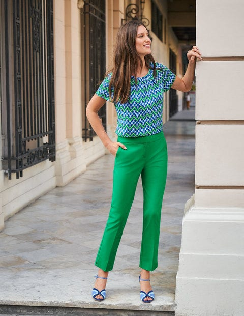 Richmond 7/8 Trousers - Rich Emerald