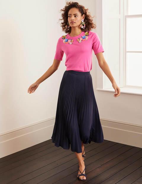 Kristen Pleated Skirt - Navy