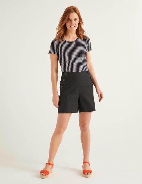 Falmouth Linen Shorts - Black