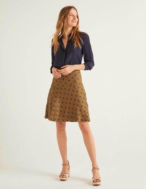Virginia Linen Skirt - Gingerbread, Linear Brand Spot