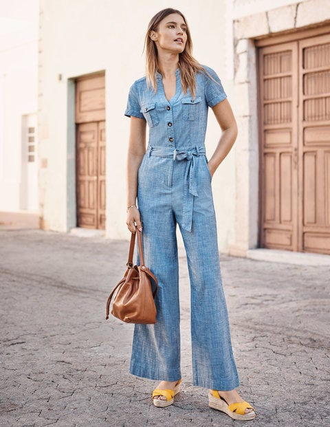 Cecily Jumpsuit - Chambray