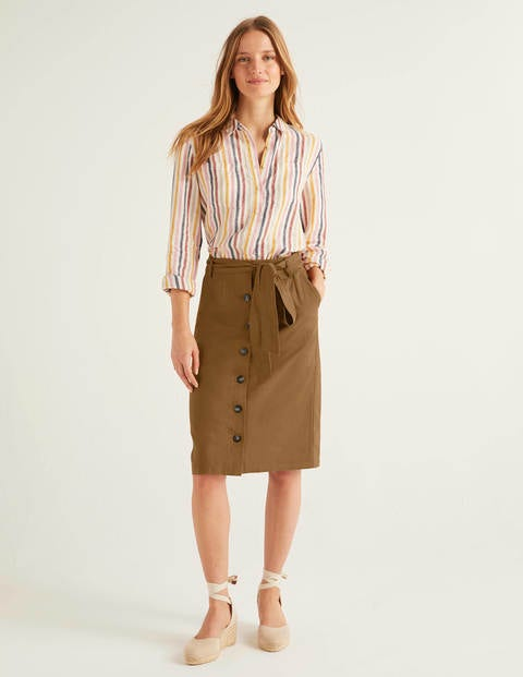 Summerson Pencil Skirt - Gingerbread
