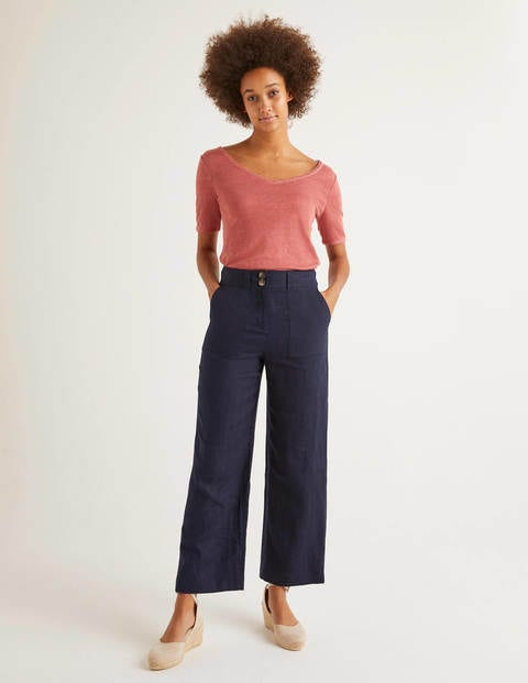 Filey Seamed Pocket Trousers - Navy