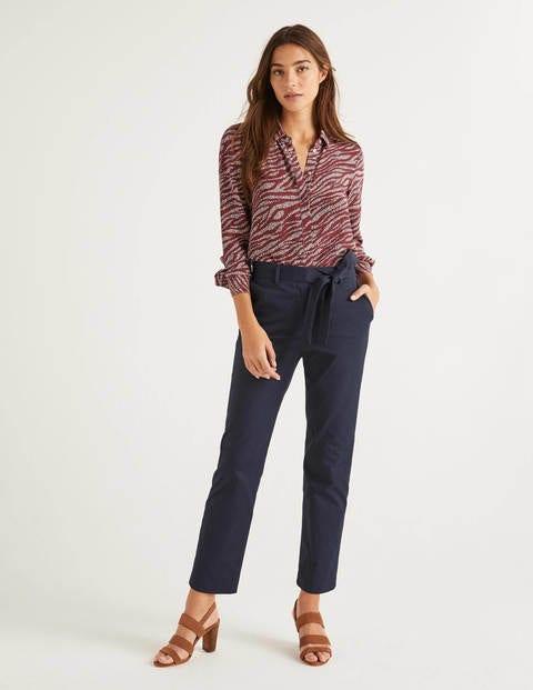 Highbury Tie Waist Trousers - Navy