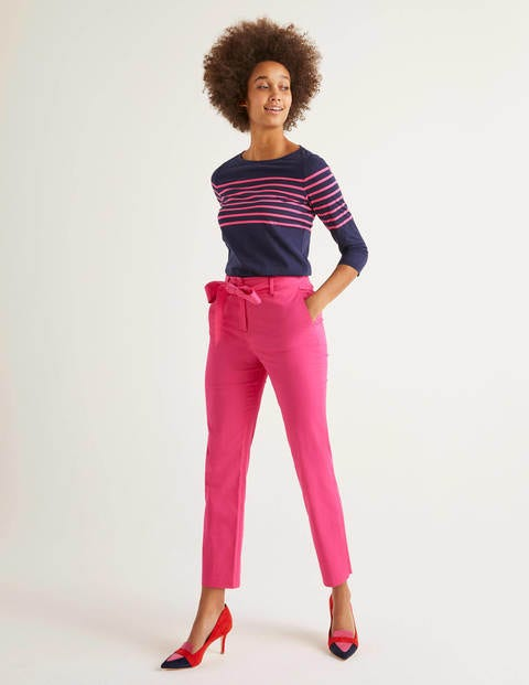 Highbury Tie Waist Trousers - Pop Pansy