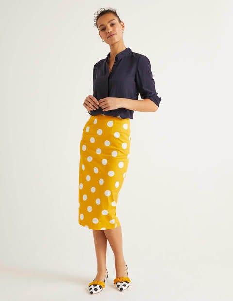 Chatterley Pencil Skirt - Tuscan Sun, Brand Spot