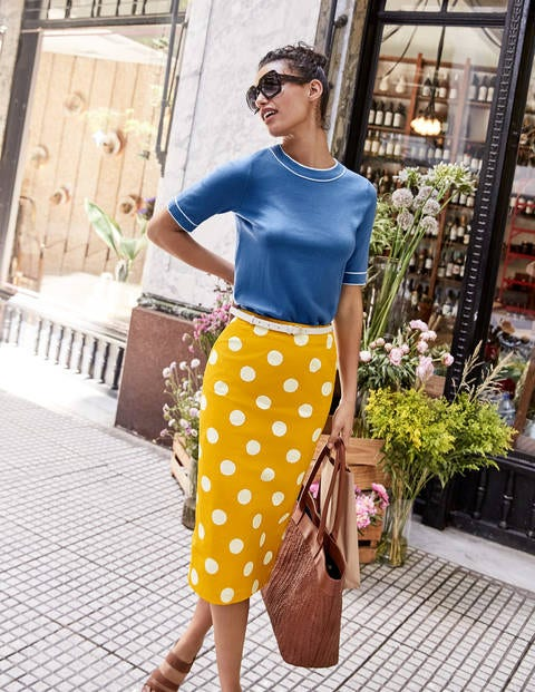 Chatterley Pencil Skirt - Tuscan Sun, Brand Spot