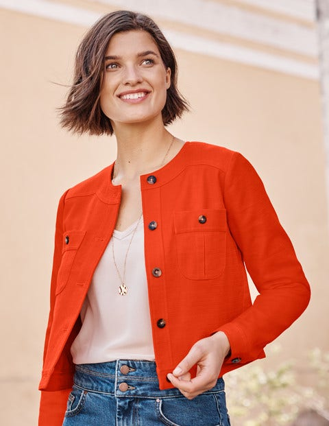 Paget Textured Crop Jacket