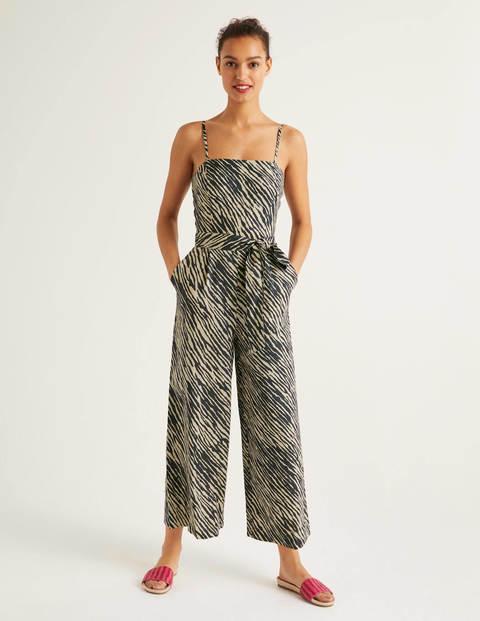 Colette Linen Jumpsuit - Animal