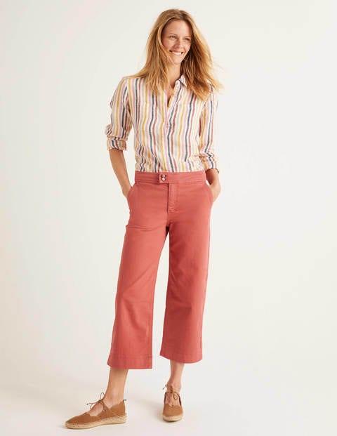 Crop Wide Leg Jeans - Rouge