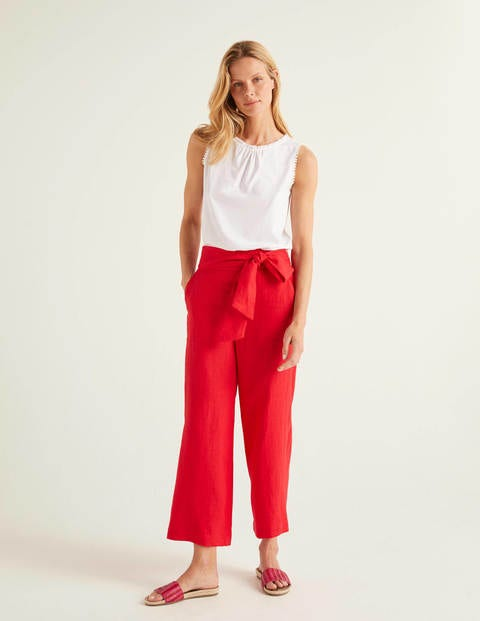 Weymouth Linen Pants - Red