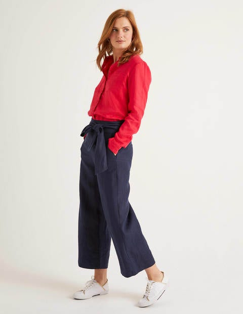 Weymouth Linen Pants - Navy