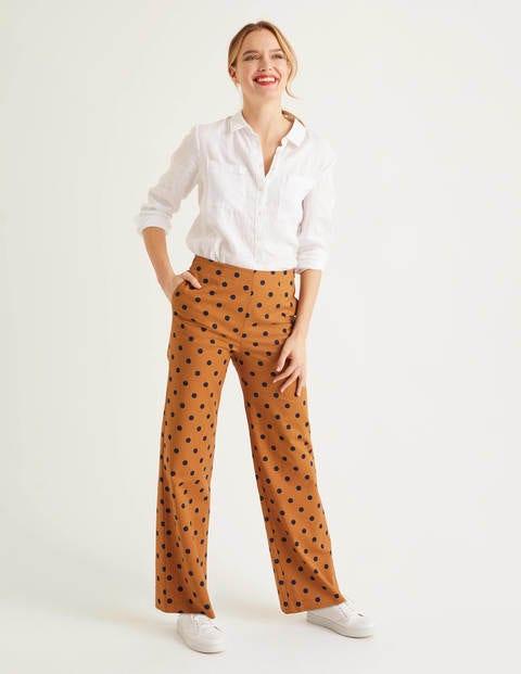 Sloane Wide Leg Trousers - Gingerbread Spot