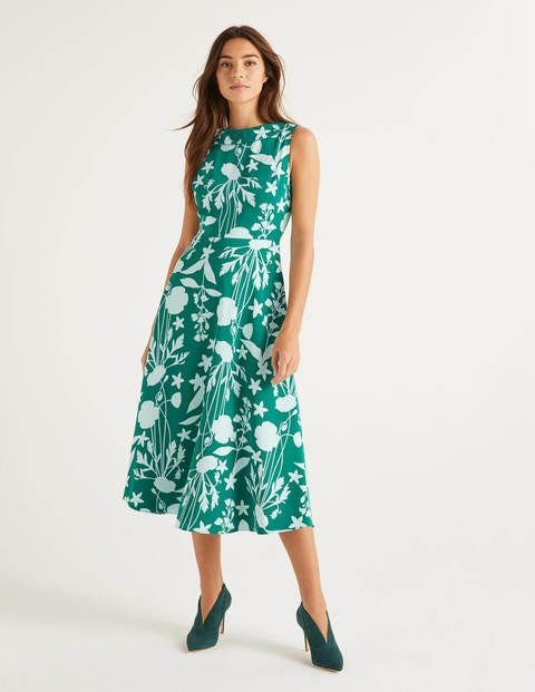 Clarissa Midi Dress - Forest, Garden Charm