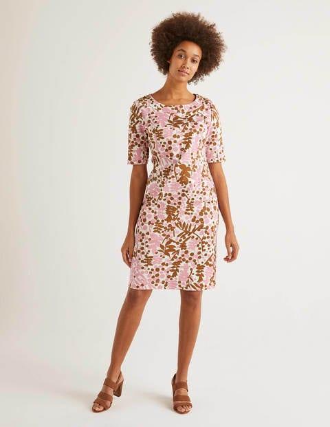 Iona Kleid mit Knopfdetail - Kirschblütenrosa, Blüten