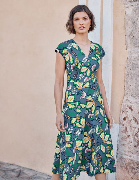 Natasha Cotton Dress - Sailor, Jungle Bloom