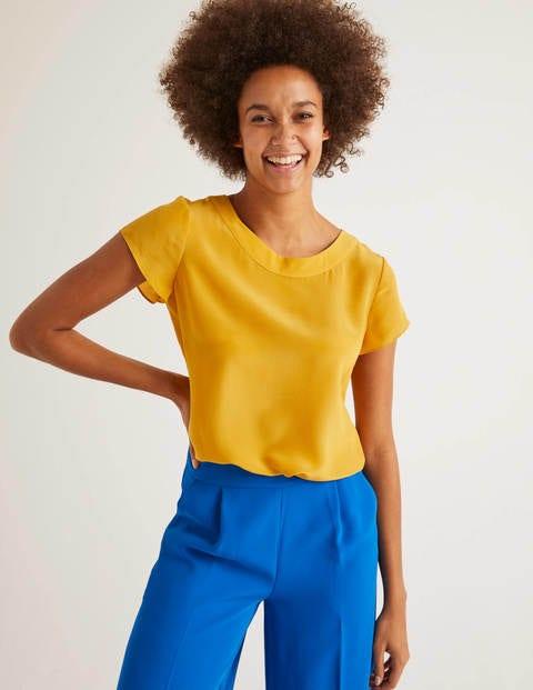 T-shirt Polly en soie - Soleil toscan