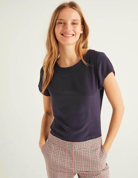 Polly Seiden-T-Shirt - Navy