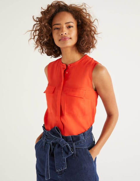 Petronella Top - Orange Sunset