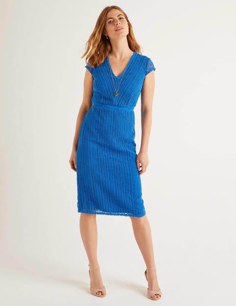 Nancy Lace Dress - Bold Blue