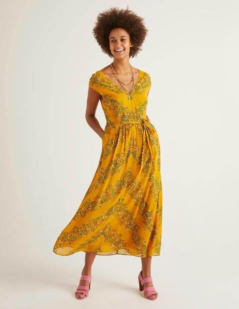 Fiona Midi Dress - Tuscan Sun, Garden Party
