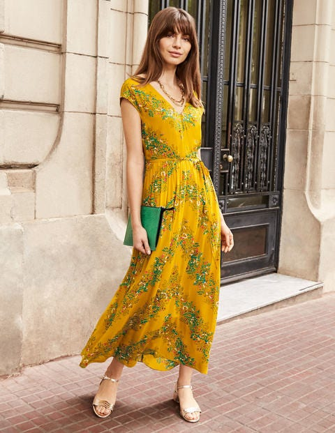 Fiona Midi Dress - Tuscan Sun, Garden Party