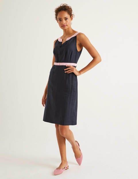Oriel Linen Dress - Navy