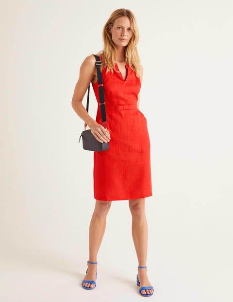 Oriel Linen Dress - Orange