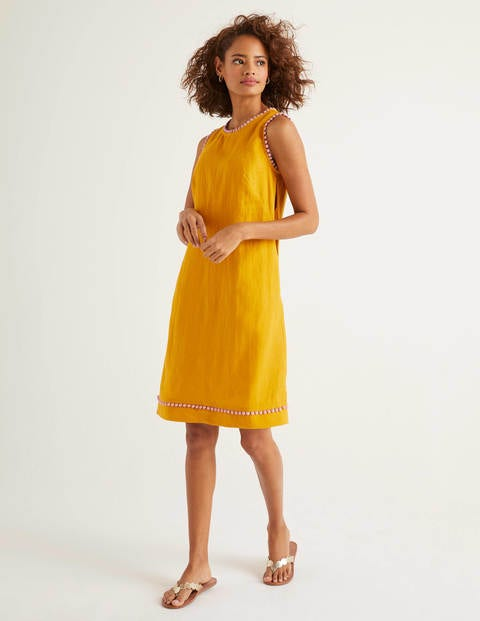 Romaine Linen Dress - Tuscan Sun