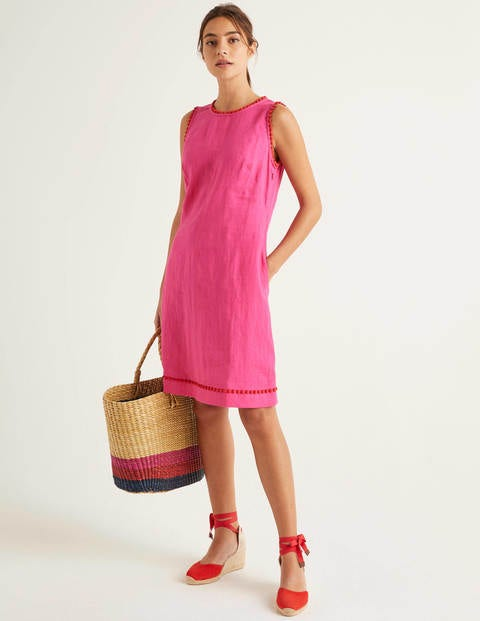 Romaine Linen Dress - Pop Pansy