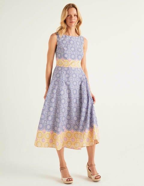 Deborah Dress - Renaissance Blue, Sun Tile