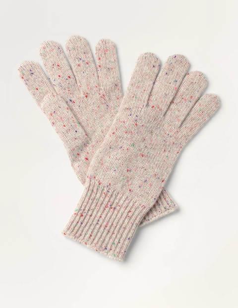 Cashmere Gloves - Chinchilla Nep