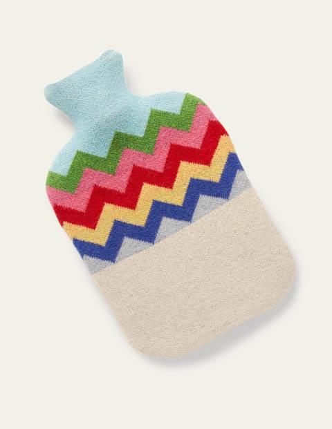 Hot Water Bottle - Ecru Rainbow Chevron
