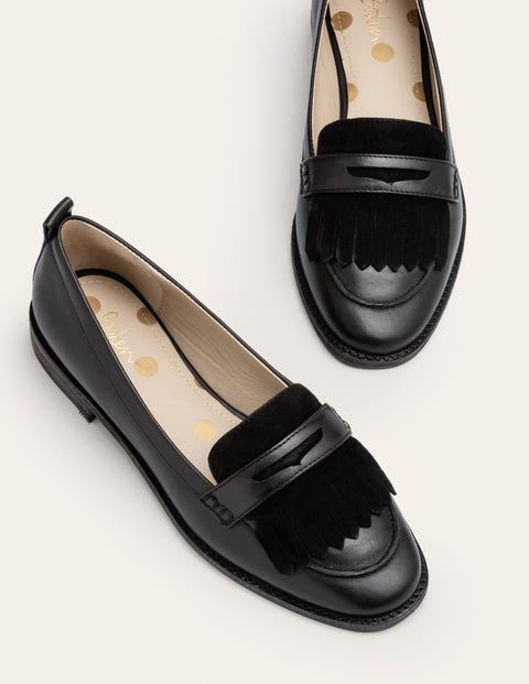 Aubrey Flexi Sole Loafers - Black
