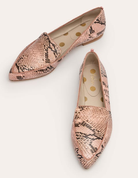 Emma Flexi Sole Shoes - Antique Pink Multi Snake