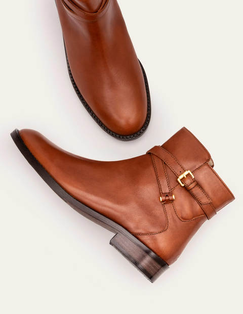 Aldeburgh Ankle Boots - Dark Tan
