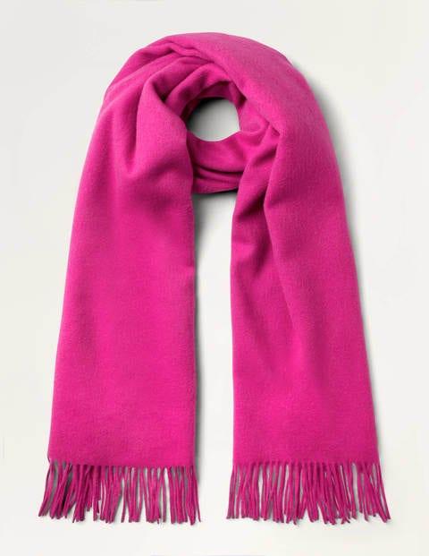 Wool Scarf - Pink Flambé