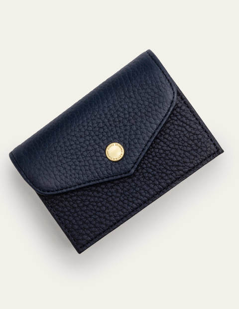 Card Holder - Navy/Gold Metallic/Chartreuse