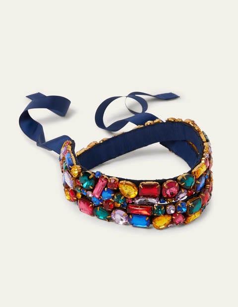 Jewelled Belt - Navy/Multi